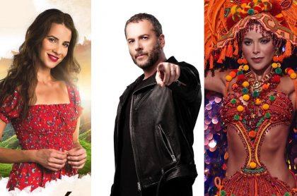 Laura Londoño, de ´Café'; José Gaviria, de 'Factor X'; y Laura Olascuaga, reina, a propósito de cambios y novedades en programación de RCN por esos programas y por Miss Universo.