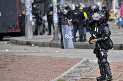 Imagen de un agente del Esmad, que ilustra caso de menor muerta en Popayán luego de procedimiento de la Policía