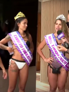 Captura de pantalla de video de concurso de la mejor cola entre mujeres del equipo Omega del Desafío