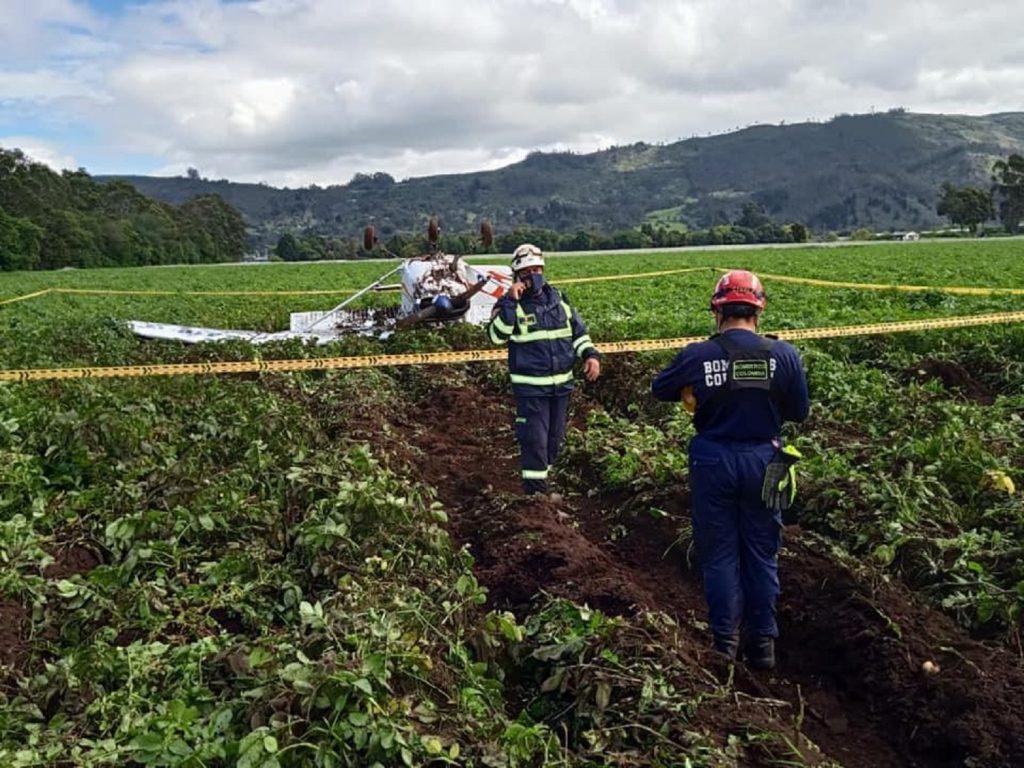 Imagen de la oficina de prensa del Cuerpo de Bomberos de Cundinamarca