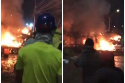 Fuerte explosión en Yumbo, durante protestas en paro nacional