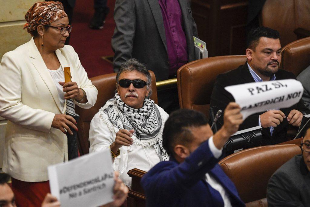 'Jesús Santrich' en el Senado / AFP