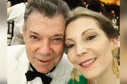 Foto de Juan Manuel Santos y 'Tutina' de Santos, a propósito de foto familiar en la que él se ve joven