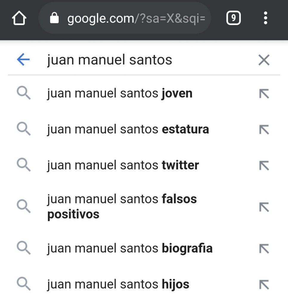 Captura de pantalla de Google