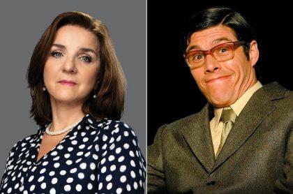Luces Velásquez y Mario Duarte en 'Café' y 'Betty, la fea', ilustran nota sobre actores que han actuado en esas dos novelas de RCN.
