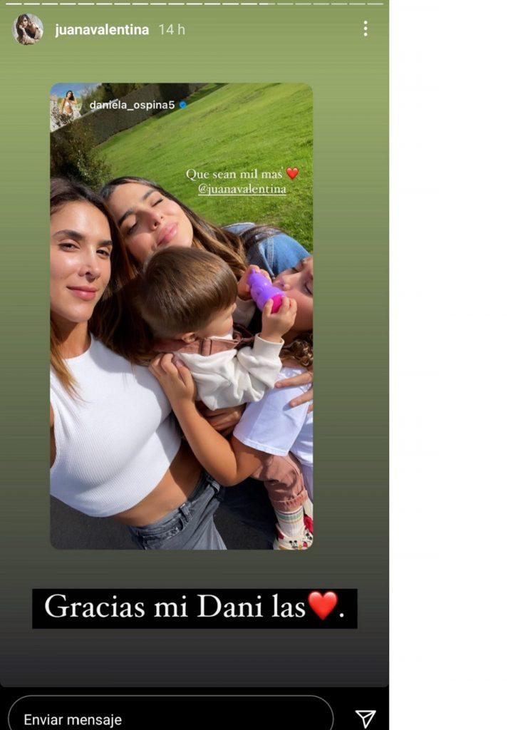 Captura de pantalla historia Instagram juanavalentina.