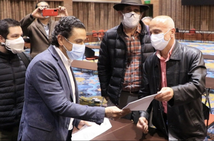 El alto comisionado de paz, Miguel Ceballos, lidera el diálogo con el comité del paro.