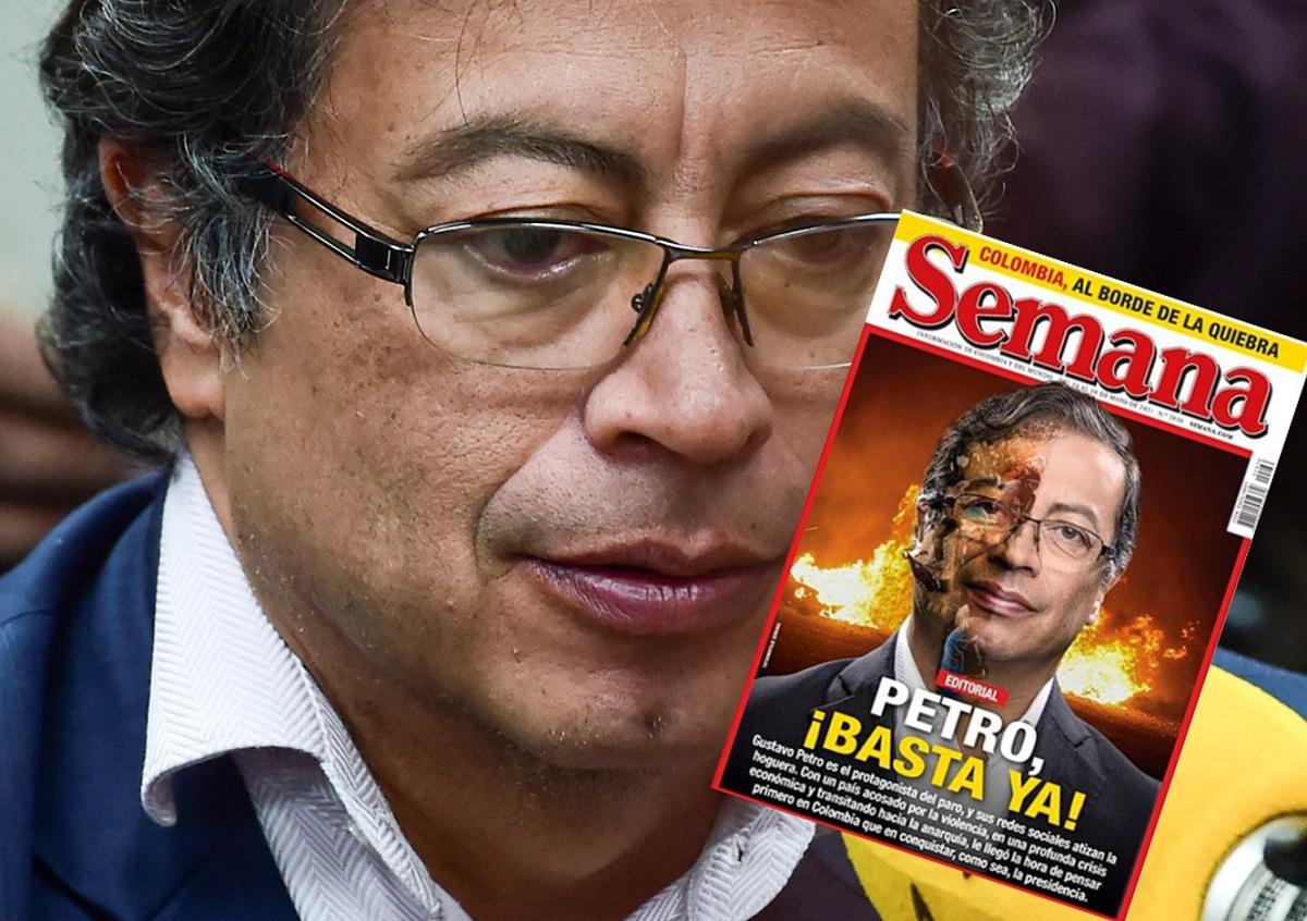 Semana acusa a Gustavo Petro y le dice que pare, a un año de elecciones