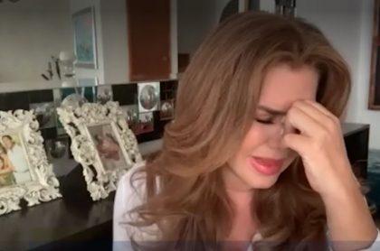 Video de Lady Noriega llorando en plena entrevista al recordar todo lo que vivió por culpa del COVID-19.