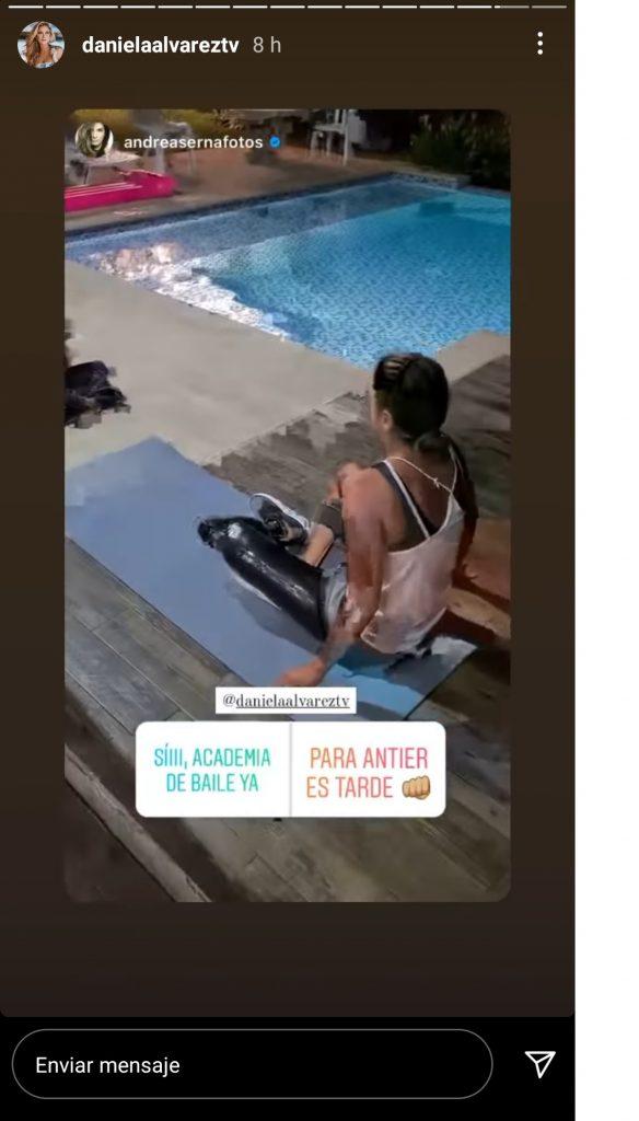Captura de pantalla historia Instagram danielaalvareztv.
