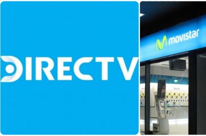 Imágenes que ilustran el nuevo negocio entre Directv y Movistar.