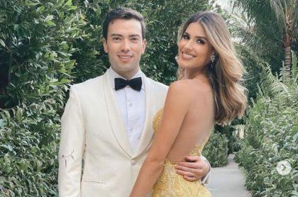 Gabriela Tafur y Esteban Santos en matrimonio, ilustra nota de Broma de Gabriela Tafur a su novio Esteban Santos por nueva opción de WhatsApp