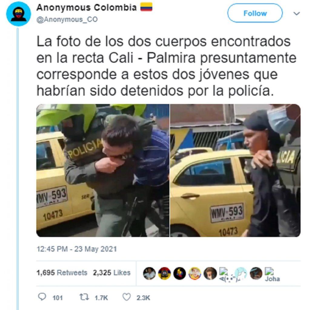 Fake news sobre muerte de manifestantes en Cali