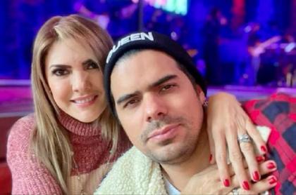 Ana Karina Soto y Alejandro Aguilar, quien habló sobre el video de la presentadora.