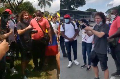 Luisito Comunica está en las calles de Cali grabando las marchas y va custodiado con seguridad personal.