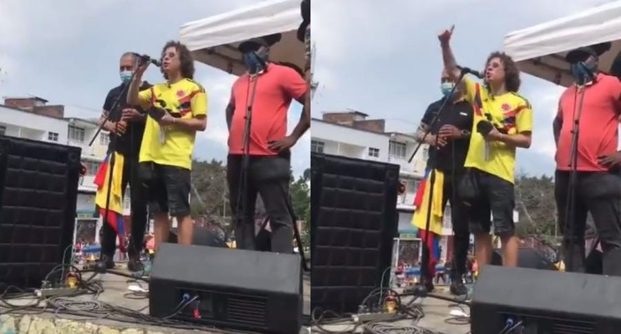 "Capturas de pantalla de video de Luisito Comunica dandp ánimos a manifestantes en Cali: ""mucha resistencia"""