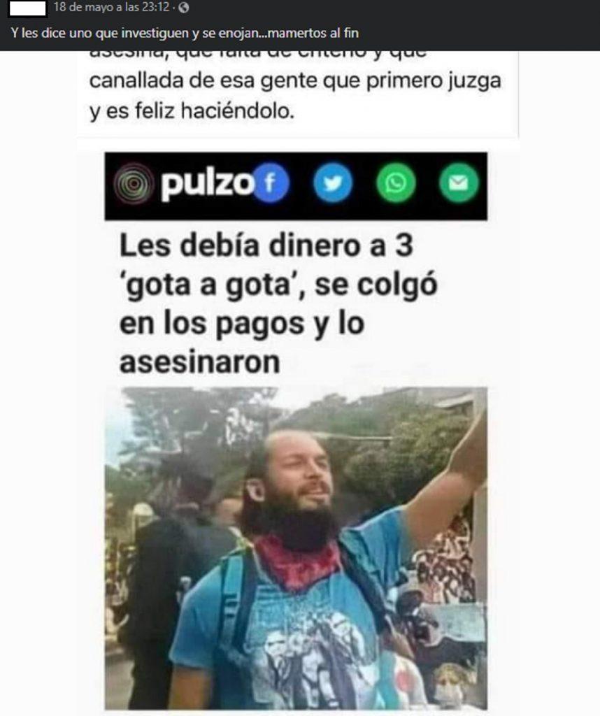 Fake news sobre Lucas Villa