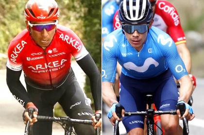 Nairo Quintana y Miguel Ángel López, colombianos en el Dauphiné; dónde ver en TV. Fotomontaje: Pulzo.