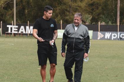 James Rodríguez se reunió con 'Bolillo' Gómez en Medellín, luego de ser borrado de la Selección Colombia.