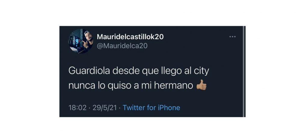 Tomada de Twitter @mauridelcastillo20