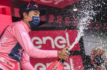 Egan Bernal en etapa 21 del Giro de Italia 2021. Clasificación general.