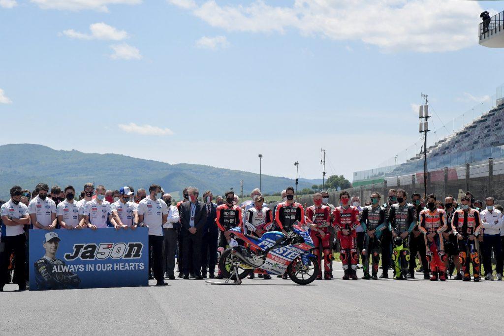 Minuto de silencio en la MotoGP por Jason Dupasquier / AFP