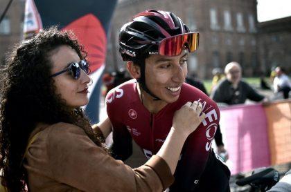 Xiomara Guerrero y Egan Bernal, cuando estuvieron juntos en el Tour de Francia.
