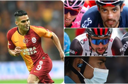 Falcao reconoce a los ciclistas colombianos en el Giro.