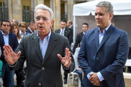 Álvaro Uribe y el presidente Iván Duque ilustran nota sobre reunión que tuvieron
