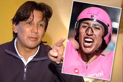 Eduardo Pimentel saca provecho al triunfo de Egan Bernal en el Giro de Italia. Fotomontaje: Pulzo.