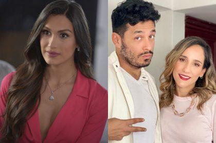 Foto de Isabella Santiago, Santiago Alarcón y 'Chichila' Navia, a propósito de piropos que dio él a actriz de 'Lala's Spa'