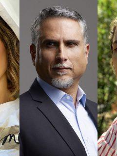 Foto de Carmen Villalobos, Marlon Moreno y Ana Wills, a propósito de sus personajes LGBT (Pride)