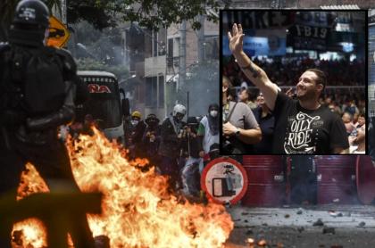 Imagen de paro que ilustra nota; Paro nacional: diputado argentino, señalado por desmanes en Colombia