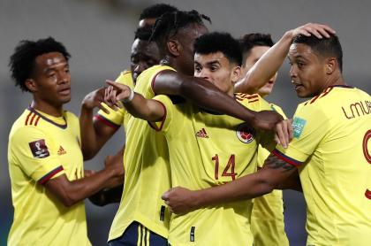 Partido de Colombia vs Perú, que tuvo rating altísimo
