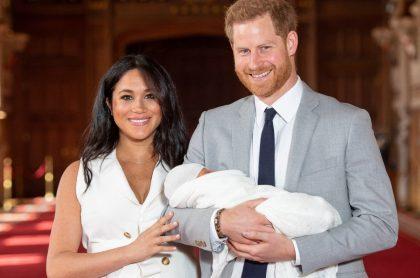 Príncipe Harry y Meghan Markle, quienes anunciaron el nacimiento de su segundo hijo