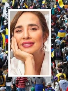 Luly Bossa, de 'Lala's Spa' (RCN), le respondió trino a Marbelle por criticar a los manifestantes durante las marchas en el marco del paro nacional.