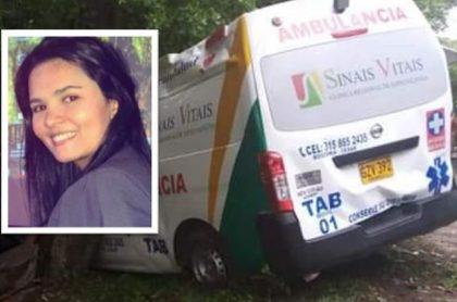 Raiza Zabaleta López, médica de 24 años, murió en un fuerte accidente de tránsito luego de que la ambulancia en la que iba chocó contra un árbol.