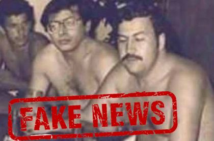 Montaje de Gustavo Petro junto a Pablo Escobar.