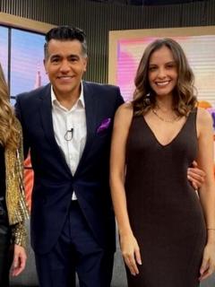 Carolina Soto, Catalina Gómez, Carlos Calero y Laura Acuña en 'Día a día', a propósito de que explicaron qué pasó con Laura Acuña en ese programa de Caracol.