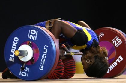 Ana Iris Segura, una de las señaladas por dopaje en pesas.