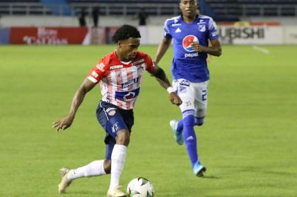 Foto de referencia de jugadores de Junior y Millonarios en nota de Ímer Machado que no estará en juego de semifinal