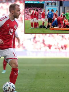 Christian Eriksen, jugador de Inter de Milán, que se desmayó en partido Dinamarca vs. Finlandia de la Eurocopa 2021.