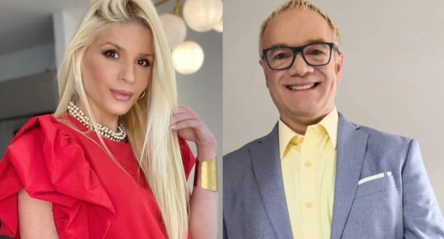 Foto de Mary Méndez y Carlos Giraldo, a propósito de que él la llamó falsa por piropear a Mr. Black