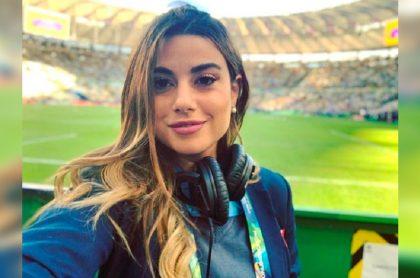 Marina Granziera está en Brasil cubriendo la Copa América para Caracol Televisión y está molesta por pregunta.