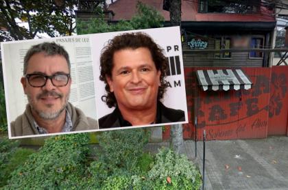 Guillermo y Carlos Vives en montaje sobre fachada de Gaira, a propósito de que 'Guillo' Vives deja el restaurante y no mencionó a su hermano en despedida.