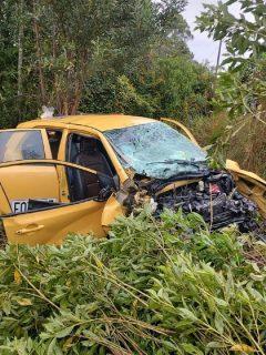 Imagen de accidente en Rionegro, Antioquia, deja 5 personas muertas