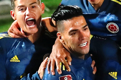 Falcao manda mensaje de apoyo a Selección Colombia, sin los términos de James. Imagen de referencia de ambos jugadores.
