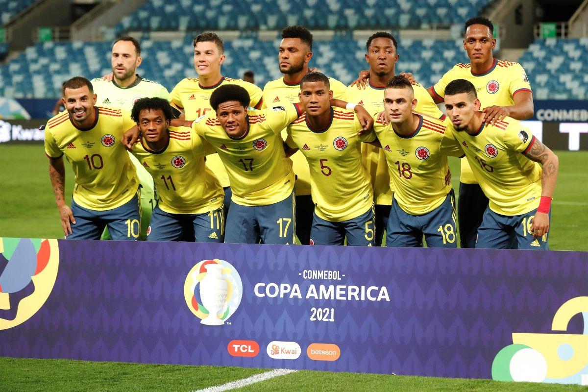 El 11 inicial de Colombia ante Ecuador en la Copa América.