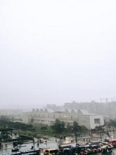 Imagen que ilustra las lluvias de este martes en Bogotá.