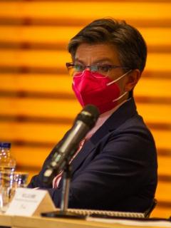 Claudia López no respondió preguntas de periodista de Canal RCN